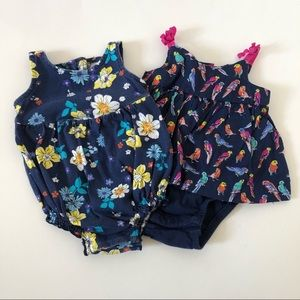 Bundle of Two Bubble Outfits 0-3 Months